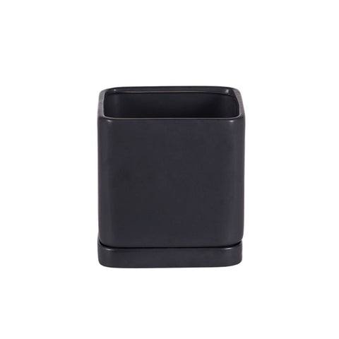 Square Matte Zen Black Pottery