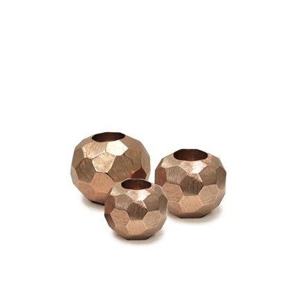 Brushed Aluminum Votive Candle Holder Copper