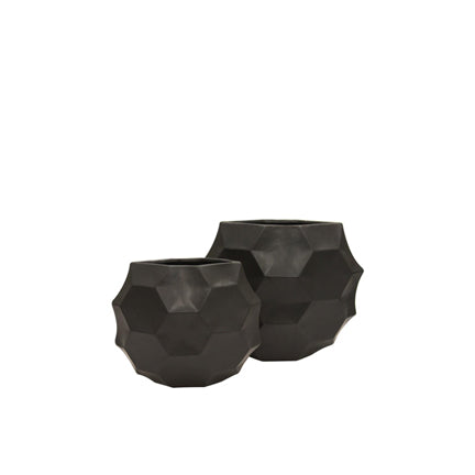 Ceramic Honeycomb Moon vase-Black