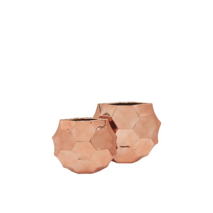 Ceramic Honeycomb Moon Case Rose Gold