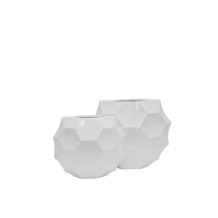 Ceramic Honeycomb Moon Case White