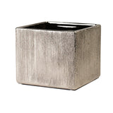 Etched Metallic Cube Planter- Copper