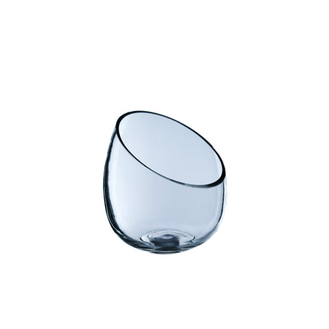Clear Slant Cut Bowl Vase