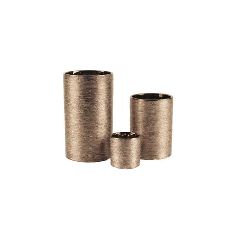 Etched Metallic Cylinders Copper