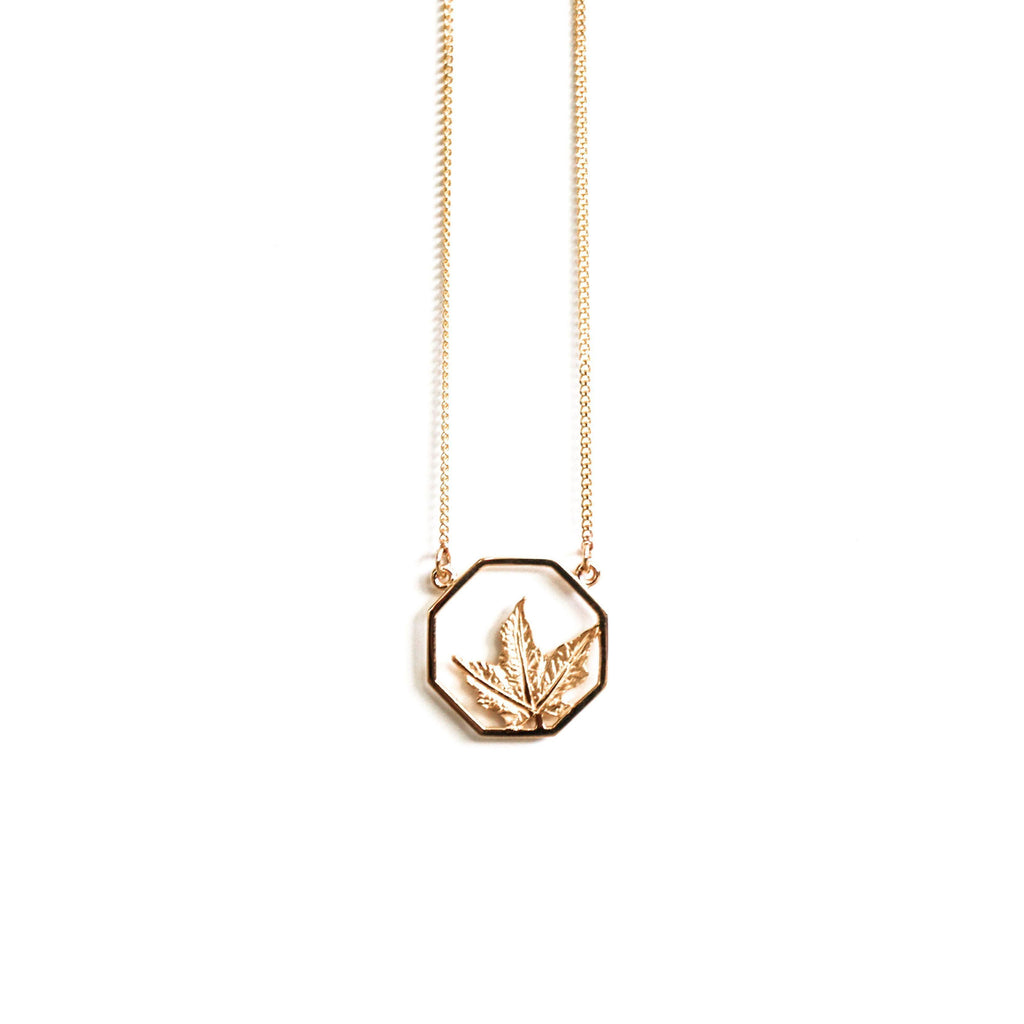 Gold Maple-Necklace-Peaks & Prairies Jewellery