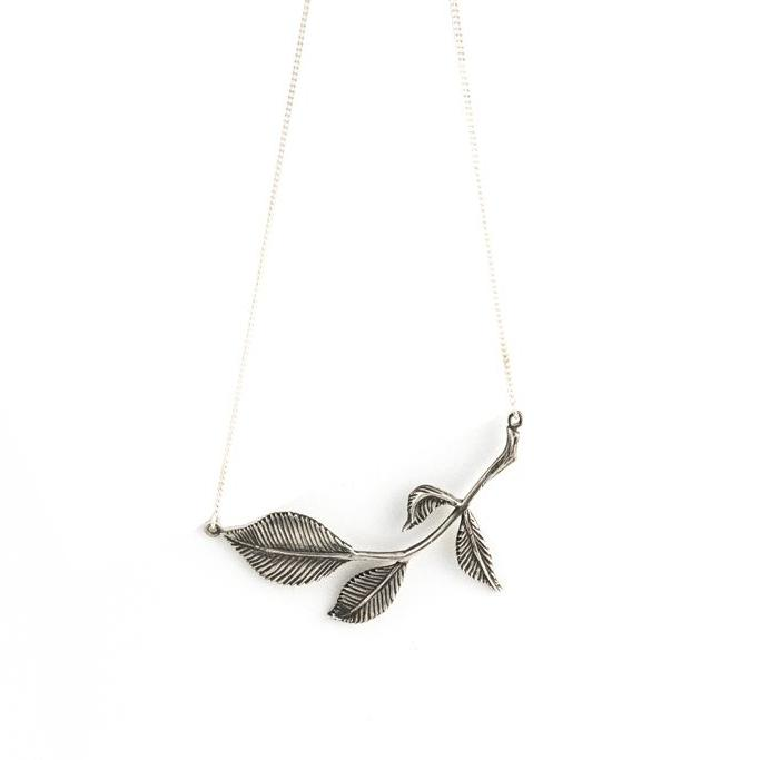 Leafy Branch-Necklace-Peaks & Prairies Jewellery