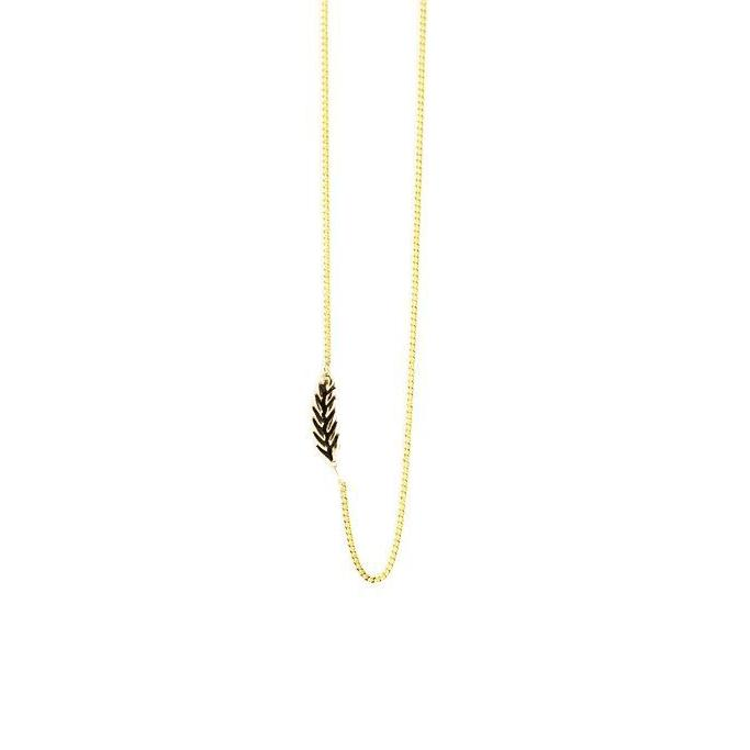 Wheat Chain - Gold-Necklace-Peaks & Prairies Jewellery