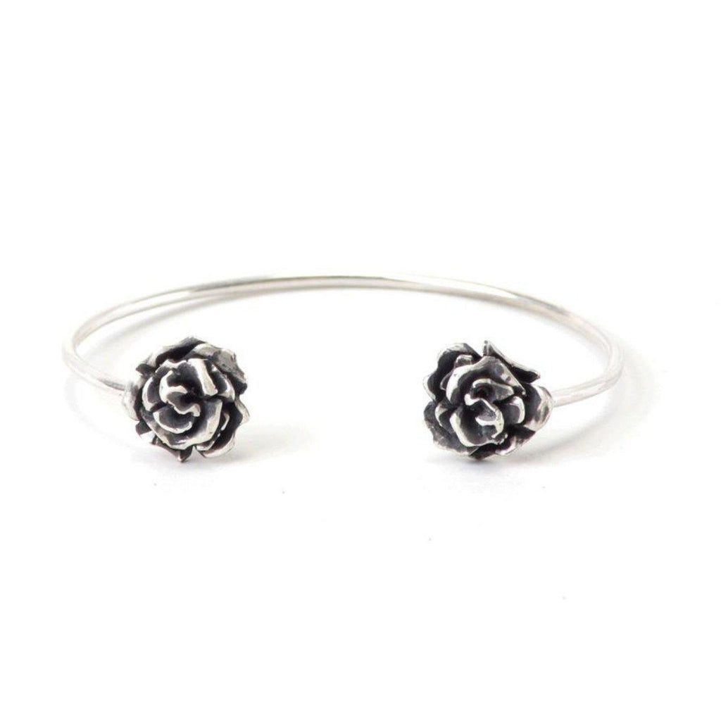Wilted Rose Bangle-Bracelet-Peaks & Prairies Jewellery