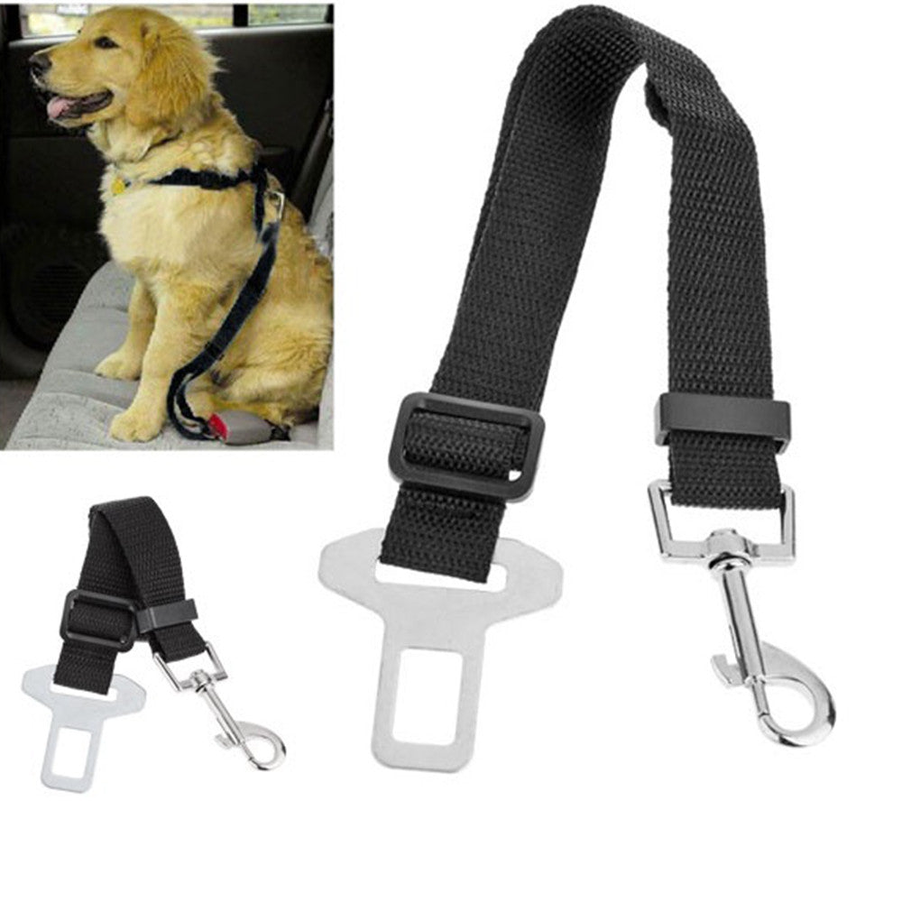 1pcs Adjustable Pet Cat Dog Car Safety Belt Collars Pet Restraint Lead Leash travel Clip Car Safety Harness Free Shipping