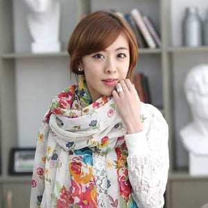 2015 160*70cm High quality Blue and White Porcelain Style Thin Section the Silk Floss Women Scarf Shawl