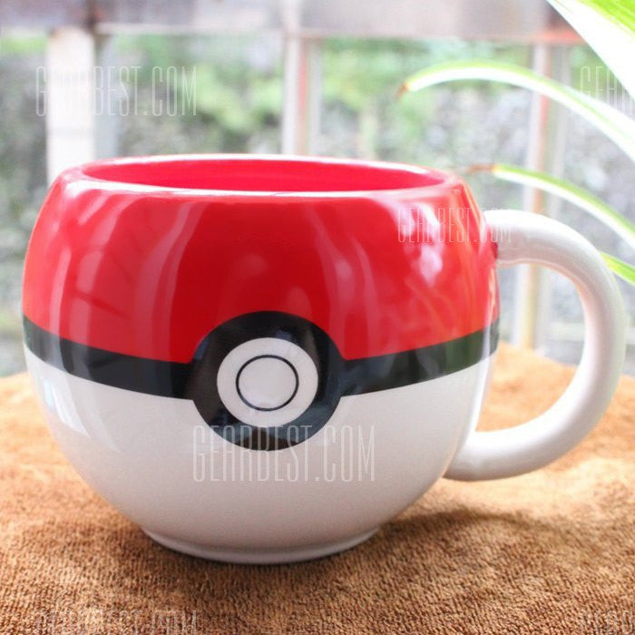 Anime Poke Ball Figural Mug