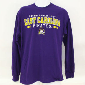 ECU Pirates Long Sleeve Tshirt Established (#43663 / 6 pack)