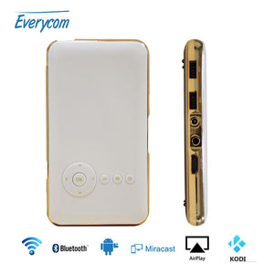 5000 mah Battery Everycom S6 plus mini phone projector dlp wifi portable Handheld smartphone Projector Android AC3 Bluetooth