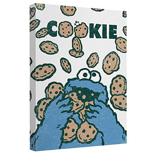 Cookie Crumble -- Sesame Street -- Stretched Canvas Framed Artwrap, 8x12