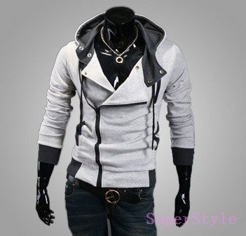 Men's Long Sleeve Zipper Hooded Coat fashion Hoodies sweatshirt