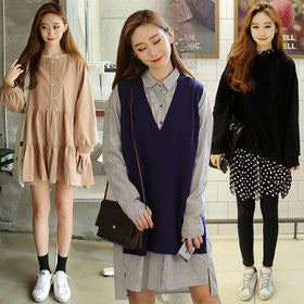 DAILYSHOP  Fall new arrivals start from 9900 won~ casual dress / knit / loose fit / overalls /