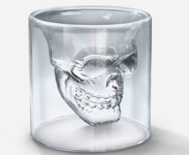 75 ml Creativo Crystal Skull Head Vodka whisky Shot Glass  potable Ware Cup  Bar Party Personalized glasses mug