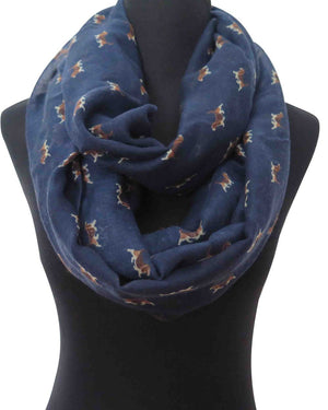 Beagle Puppy Print Women's Infinity Loop Scarf Gift for Dog Lovers