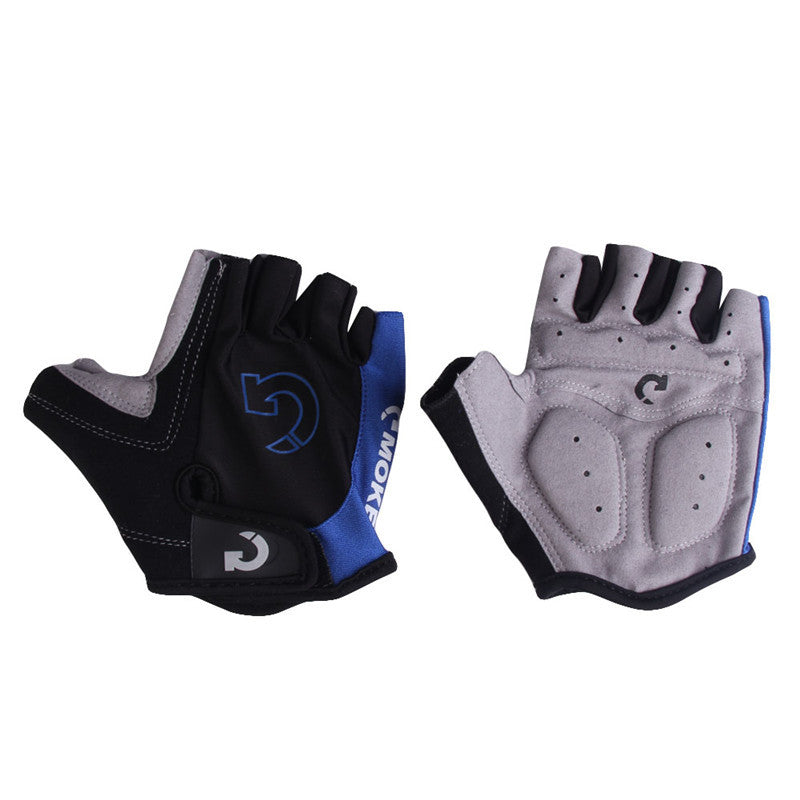 Cool Unisex Cycling Gloves Men Sports Half Finger Anti Slip Gel Pad Motorcycle MTB Road Bike Gloves S-XL 3 Colors Bicycle Gloves, Color - Red