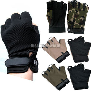 Fashion Half Finger Fingerless Military Motorcycle Bicycle Cycling Training Gloves 4 Color Size M L XL Free Shipping