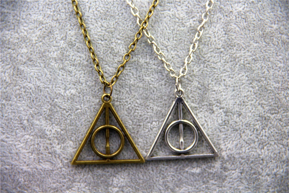 Harry Potter Luna Triangle Deathly Hallows Pendant Necklace