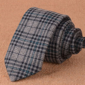 Stylish Plaid Skinny Ties