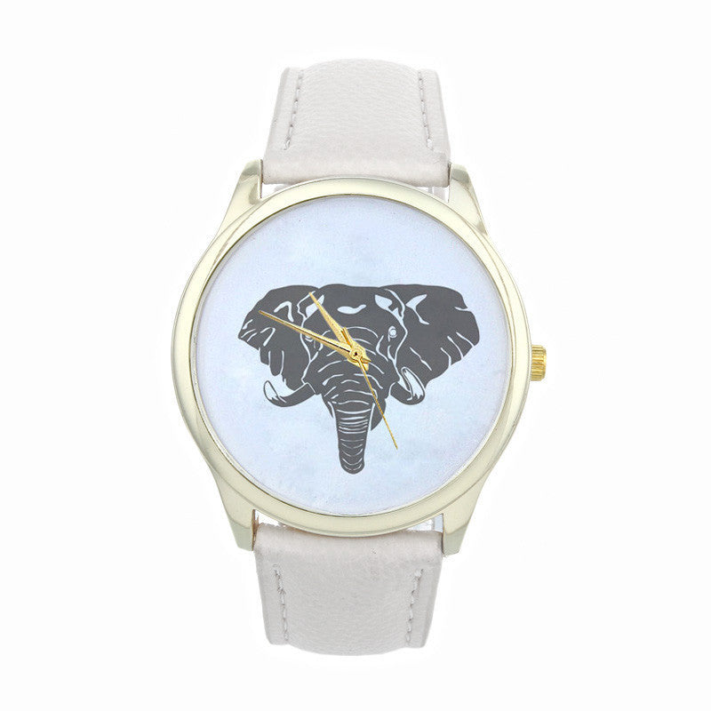 NEW ARRIVAL! Leather Elephant Quartz Dial Watch - FREE SHIPPING!!!