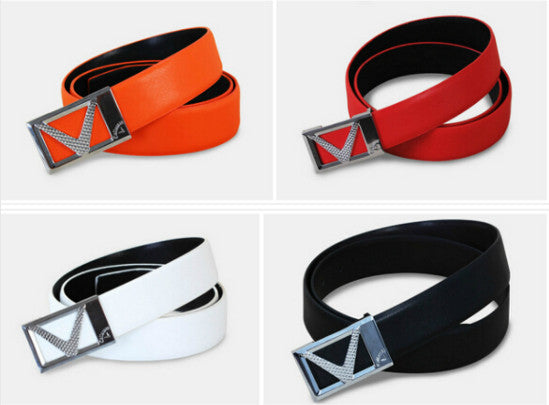 Hot Sale ! 2016 Golf Belt Casual Sports Outdoor Strap Cowskin Unisex Men Sport Golf Jeans Leather Belt 4 Sizes and colors