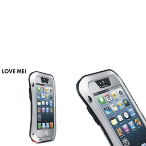 LOVE MEI Cool Anti-scratch Anti-collision Waterproof Case for iPhone 5/5S/SE Silver