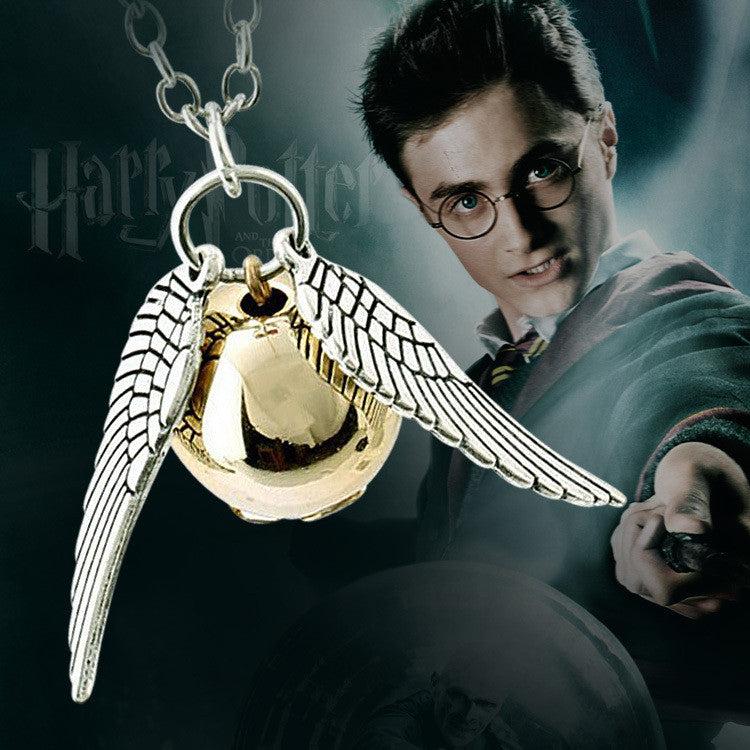New! Unisex Harry Potter Golden Snitch Pendent Necklace