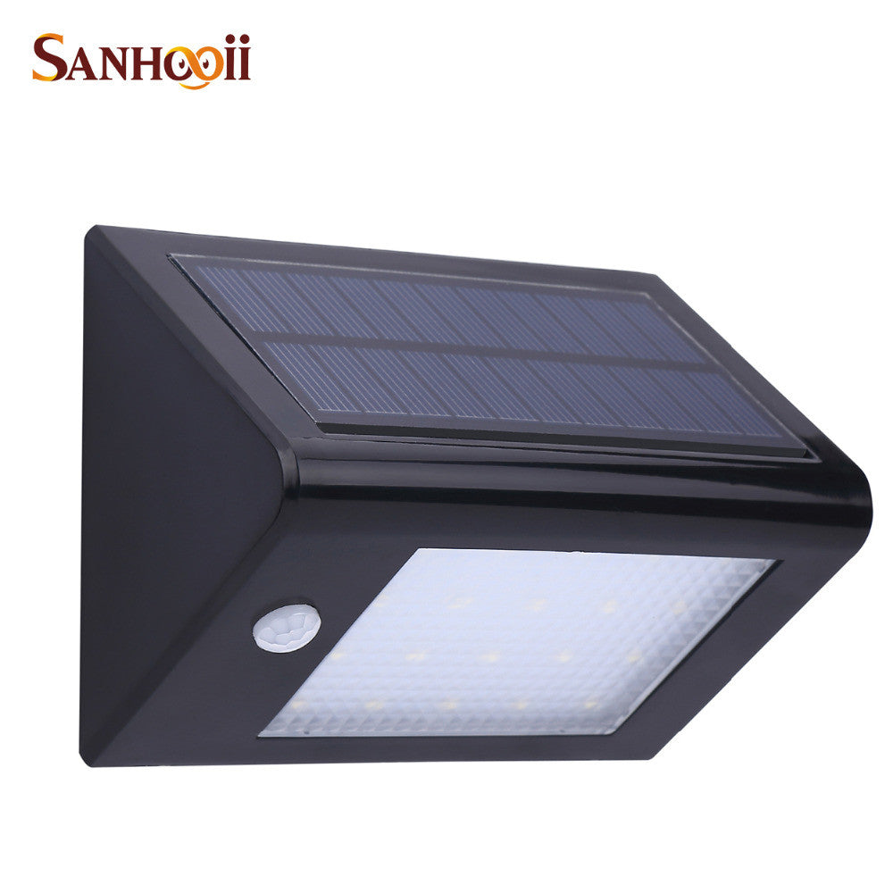 Outdoor 350LM 20 LED Solar Power PIR Motion Sensor Garden Yard Wall Light Super Bright Garage Security Door Lamp IP65 Waterproof