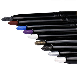 PRO 14 Colors Eyeshadow & Eyeliner Pen Wih Brush Highlights Natural Long Lasting Waterproof Eyeliner Pencil For Ladies