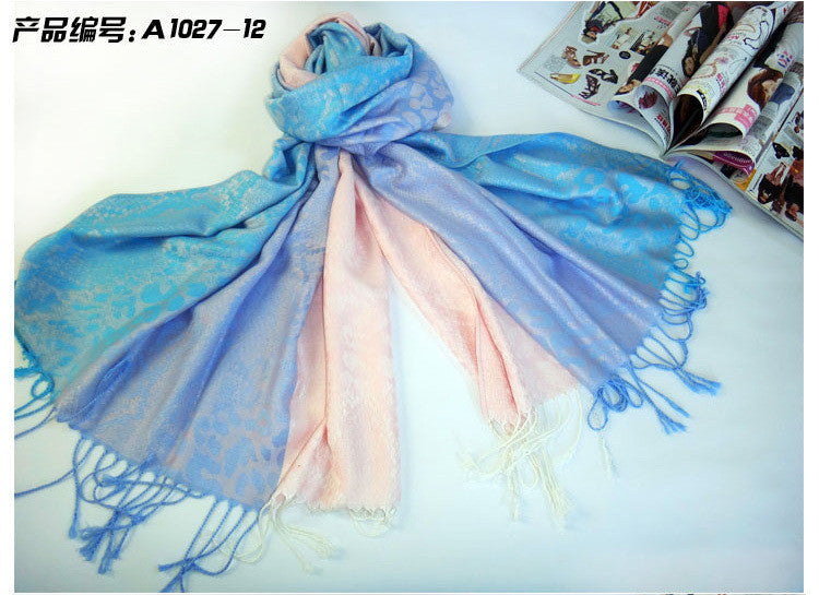 Scarf Women Autumn Winter Leopard Snake Tattoo Ladies Fringed Scarves Shawl Cachecol Female Neon designer Top Quality
