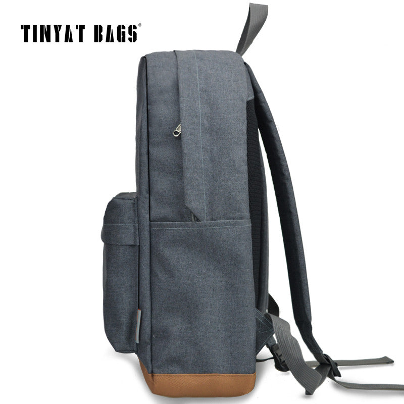 TINYAT Men's 15 inch laptop backpack computer school backpacks rucksacks leisure for teenage boys mochila male Escolar Gray 1101