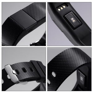 TW64 Pro JW86 Heart Rate Smart Bluetooth 4.0 Wristband Watch Black