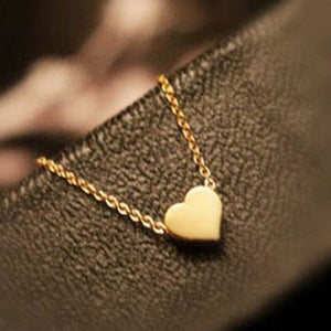 Tiny Heart Necklace Pendant Gold Plated Chain Love Gifts Women MN105 Magi Jewelry