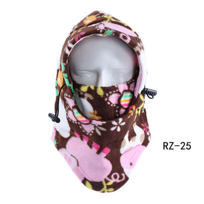 Windproof Outdoor Sports Fleece Face Mask Ski Snowboard Hood Hat Neck Warmer Motorcycle Cycling Cap Thermal Balaclavas Scarf