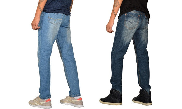 Men's Skinny-Fit Whiskered Jeans (2-Pack)