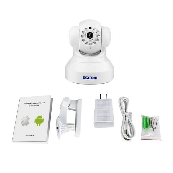 ESCAM QF001 720P IR Night Vision IR-Cut 1.0Mrga WiFi IP Camera Pan Tilt Security Camera Support 32G TF Card