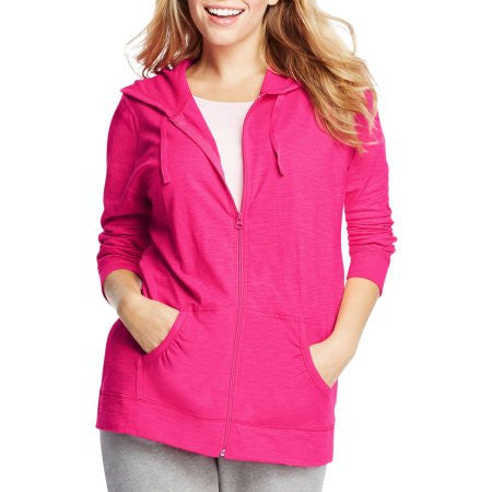 Just My Size Women's Plus-Size Slub Jersey Hoodie