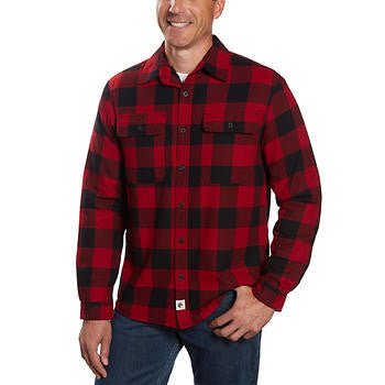 Boston Traders Men's Sherpa Lined Flannel Shirt