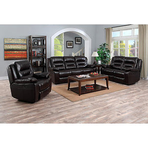Garrison 3-piece Top Grain Leather Reclining Set
