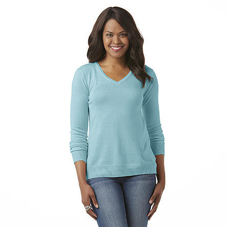 Basic Editions Women's V-Neck SweaterBasic Editions Women's V-Neck Sweater