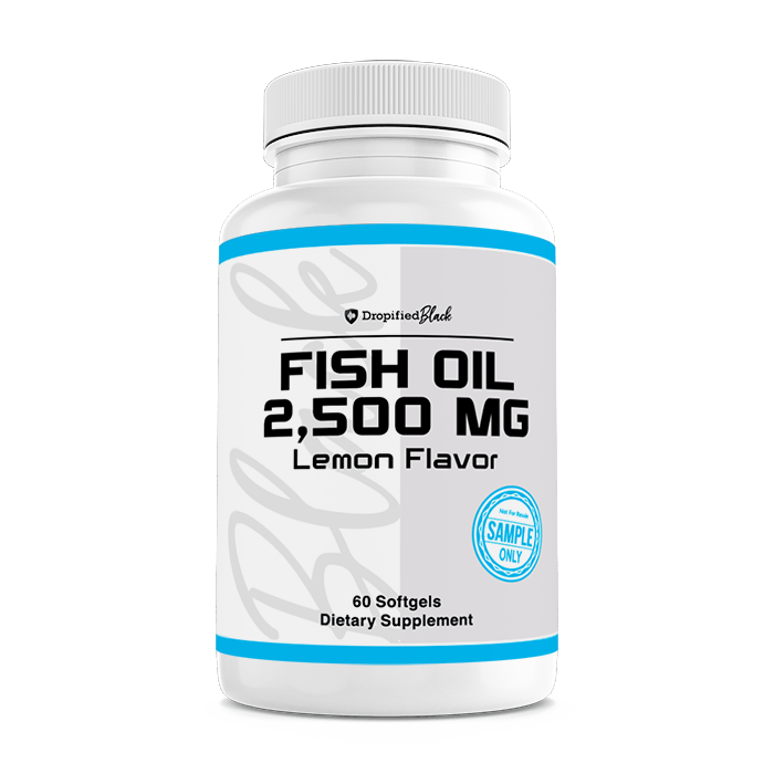 Omega 3 Fish Oil - 1250mg Lemon Flavor - Sample