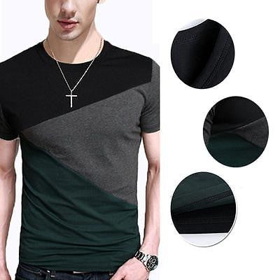 New Fashion Casual Slim Men's Fit Short Sleeve Polo Shirt T-shirts Tee Men Shirt