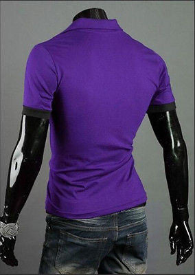 New Stylish Men's Cotton Short Sleeve Slim Fit Polo Shirt T-Shirts Casual Shirts