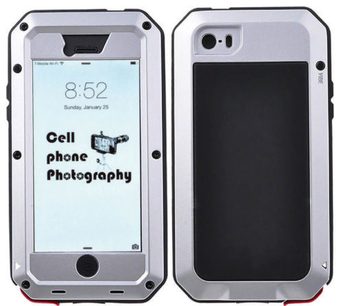 Shockproof Aluminum Gorilla Glass Metal Case Cover for iPhone 5S 6 & 6S Plus 5.5
