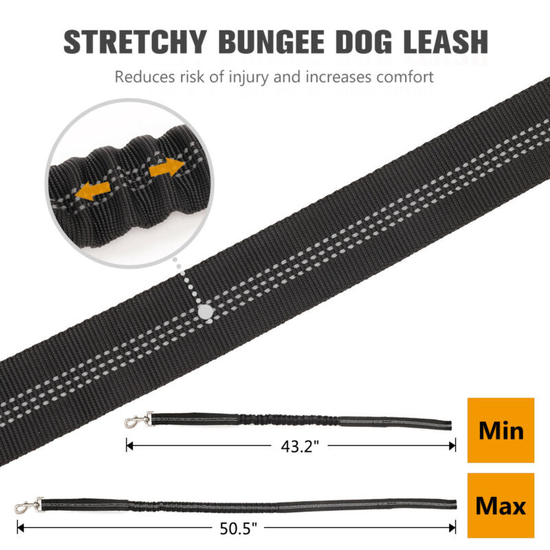Dog Leash Police Tactical Training Elastic Bungee Military Canine+Control Handle