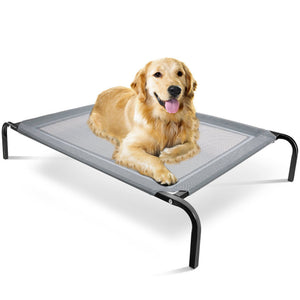 Elevated Dog Bed Lounger Sleep Pet Cat Raised Cot Hammock for Indoor Outdoor-LG