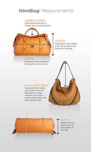 G.I.L.I. with HALOGUARD Leather Zip Front RFID Handbag